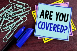 Handwriting Text Are You Covered Question. Concept Meaning Healt